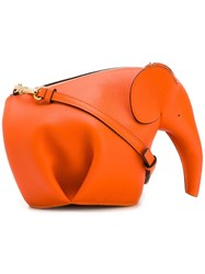 Loewe 'Elephant' Crossbody Bag Yellow Orange