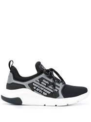 Emporio Armani Ea7 Racer Reflex Low Top Trainers Black