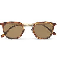 Eyevan Square Frame Tortoiseshell Acetate And Metal Sunglasses Tortoiseshell