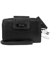 Kenneth Cole Reaction Never Let Go Tech Tab Wristlet With Charger Black