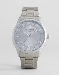 Ben Sherman Bracelet Strap Watch In Silver Silver