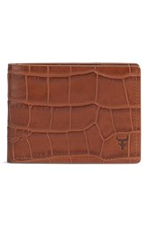 Men's Trask 'Jackson' Super Slim Leather Wallet Brown Scotch