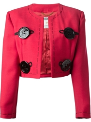 Moschino Vintage 'Needle' Skirt Suit Red