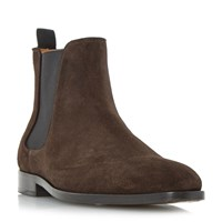 Paul Smith Gerald Chisel Toe Formal Chelsea Boots Brown