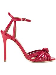 Scanlan Theodore Knot Front Heeled Sandals Red
