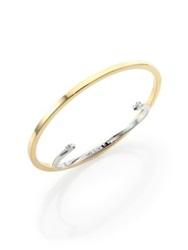 Maison Martin Margiela Two Tone Cuff And Bangle Bracelet Gold