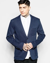 Sisley Cotton Blazer Navy