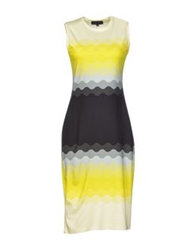 Jonathan Saunders 3 4 Length Dresses Yellow