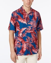 Tommy Bahama Men's Relaxed Fit Palm Frond Shirt Navy