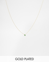 Asos Gold Plated Sterling Silver May Birthstone Choker Necklace Emeraldgold
