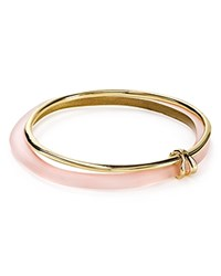 Alexis Bittar Lucite Liquid Metal Stacked Bangles Set Of 2 Peach