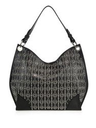 Alexander Mcqueen Legend Small Studded Leather Hobo Bag Black