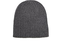 Alex Mill Men's Chunky Rib Knit Cashmere Beanie Dark Grey Light Grey Dark Grey Light Grey