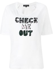 Markus Lupfer 'Check Me Out' T Shirt White