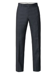 Racing Green Men's Navy Heritage Check Tailored Trouser Blue