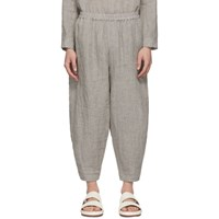 Toogood Grey Linen 'The Acrobat' Trousers