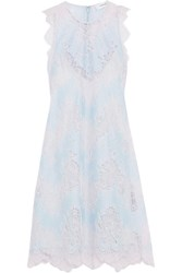 Carven Lace Mini Dress Blue