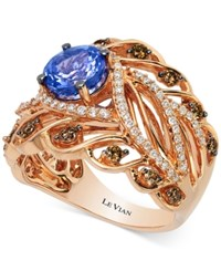 Le Vian Chocolatier Tanzanite 1 1 5 Ct. T.W. And Diamond 3 4 Ct. T.W. Ring In 14K Rose Gold Purple