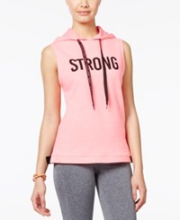 Material Girl Active Juniors' Hooded Strong Graphic Vest Only At Macy's Flashmode