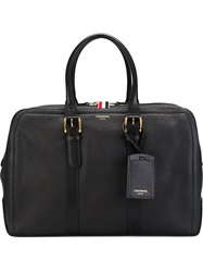 Thom Browne Double Zip Closure Tote Bag Black
