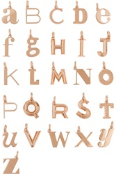 Monica Vinader A Z Alphabet Letter Rose Gold Plated Pendants