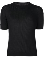 Vera Wang Ribbed Knit Mini Dress Black