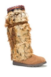 Muk Luks Leela Faux Fur Boot Brown