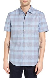 John Varvatos Men's Collection Slim Fit Plaid Sport Shirt