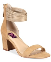 Mojo Moxy Cookie Block Heel Sandals Women's Shoes Natural