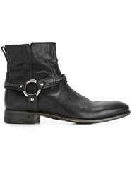 John Varvatos Buckle Detail Ankle Boots Black