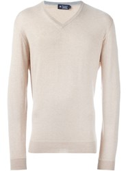 Hackett V Neck Sweater Nude And Neutrals