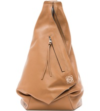 Loewe Anton Leather Backpack Tan