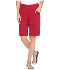 Jag Jeans Ainsley Bermuda Classic Fit Bay Twill Winter Berry Women's Shorts Red