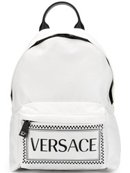 Versace Printed Classic Backpack White