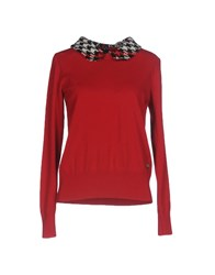 Lafty Lie Sweaters Red