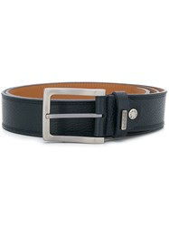Baldinini Silver Tone Buckle Belt Blue