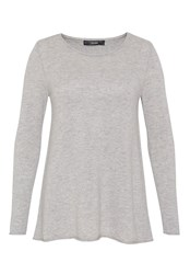 Hallhuber A Line Wool Jumper Grey