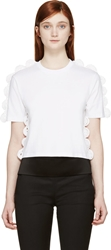 Simone Rocha White Crocheted Trim T Shirt