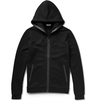 Balenciaga Pocket Detailed Fleece Back Cotton Jersey Hoodie Black