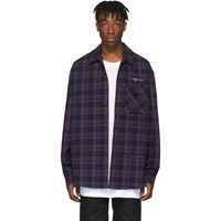Off White Black Flannel Check Shirt
