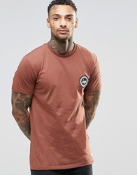Hype T Shirt With Crest Logo Brown