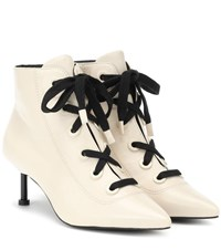 Mercedes Castillo Payton Leather Ankle Boots White