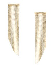 Bcbgmaxazria Pave Chain Fringe Earrings Gold