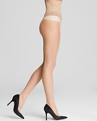 Commando Sexy Sheer Lace Top Tights Medium Nude