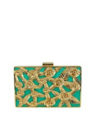 La Regale Rose Cased Metal Minaudiere Mint