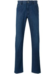 Brioni Slim Fit Jeans Men Cotton Spandex Elastane 38 Blue