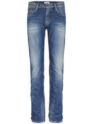 Tommy Hilfiger Men's Ryan Penrose Straight Fit Jeans Mid Blue