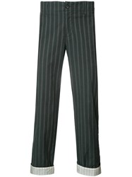 Undercover Woven Stripe Trousers Black