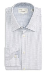 Ted Baker Men's Big And Tall London 'Covell' Trim Fit Graphic Dress Shirt Navy