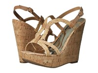 Carlos By Carlos Santana Barby Natural Women's Wedge Shoes Beige